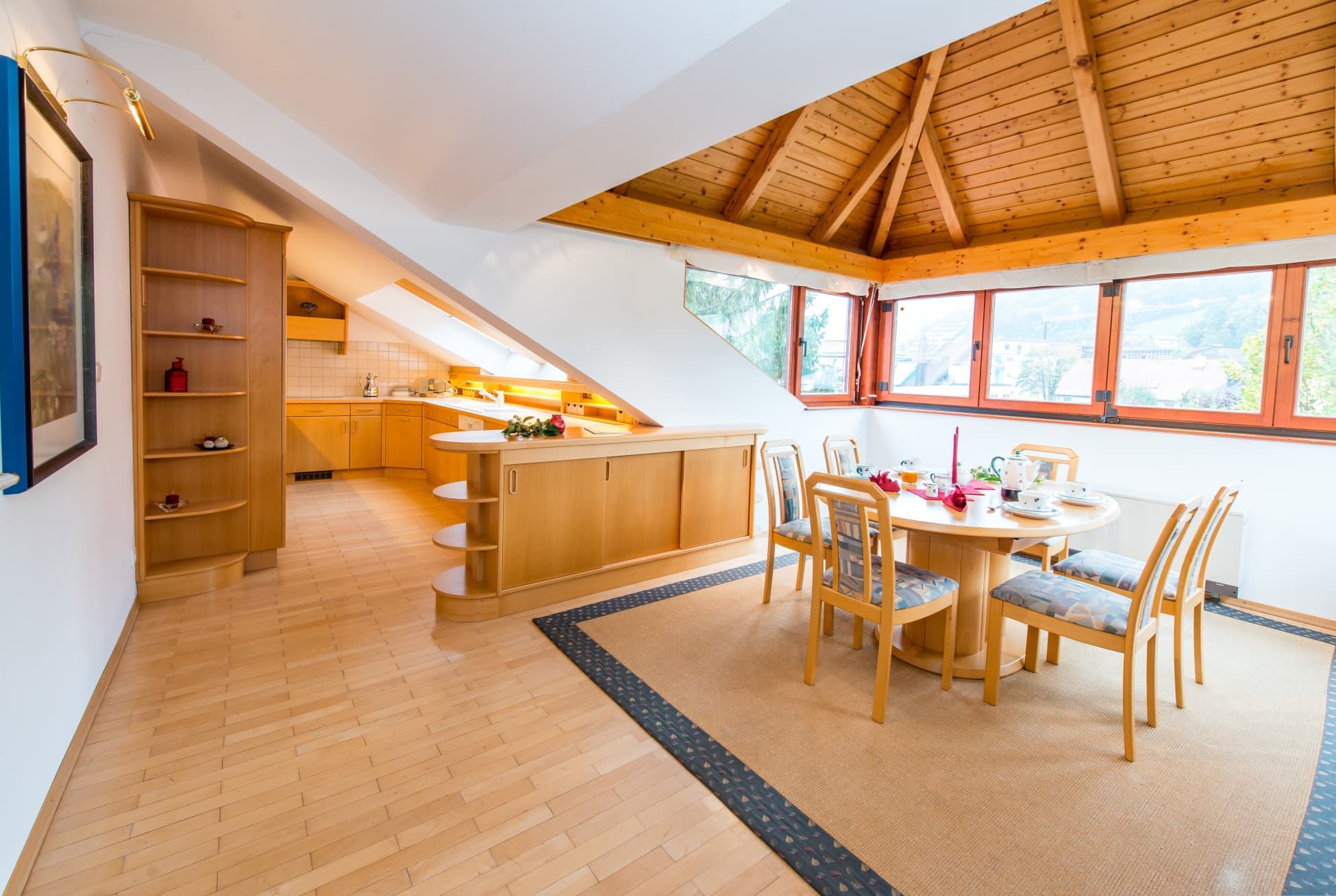 Blick in die Wohnküche von Wohnung 1