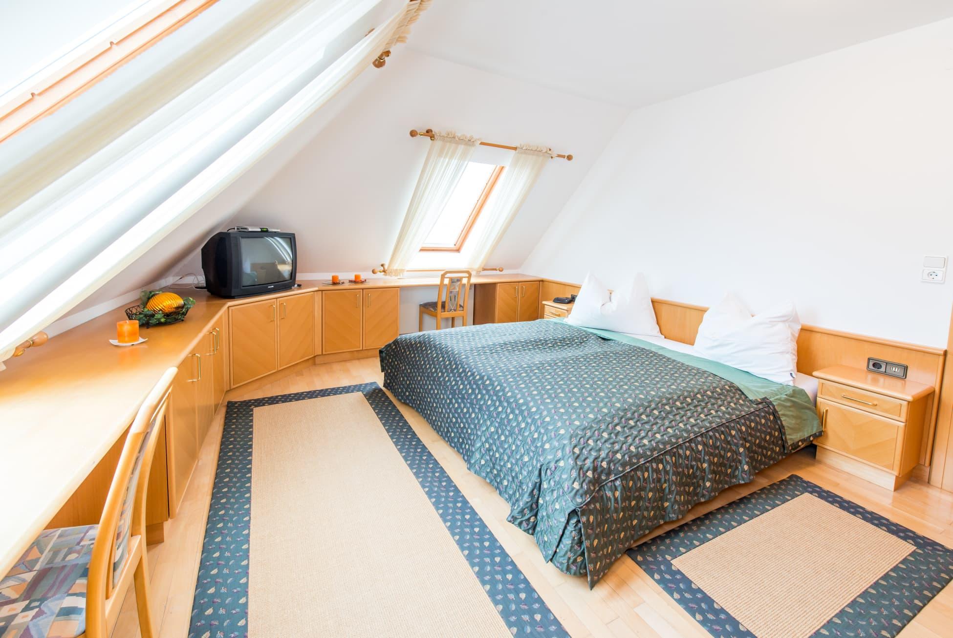 Schlafzimmer der größten Wohnung von fereienwohnungen-ybbsitz.at